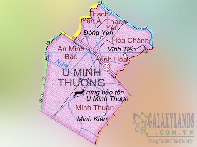 Bản đồ huyện U Minh Thượng tỉnh Kiên Giang