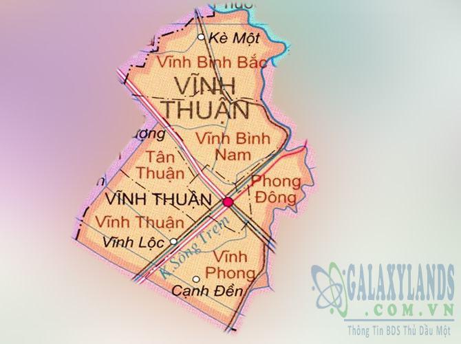 Bản đồ huyện Vĩnh Thuận tỉnh Kiên Giang