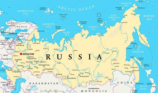 Bản đồ đất nước Liên Bang Nga