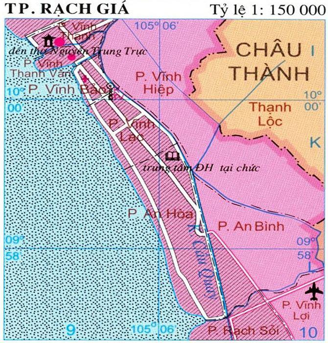 Bản đồ thành phố Rạch Giá Kiên Giang