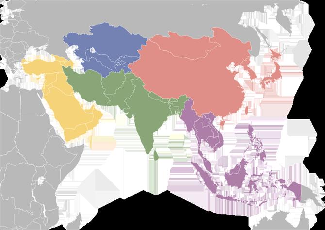 vị trí Châu Á trên Google Map