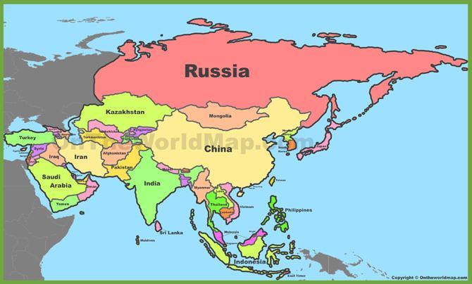 Diện tích các quốc gia thuộc Châu Á