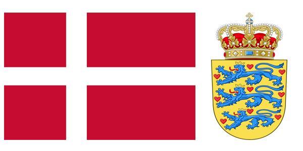 Quốc kỳ và quốc huy đất nước Đan Mạch