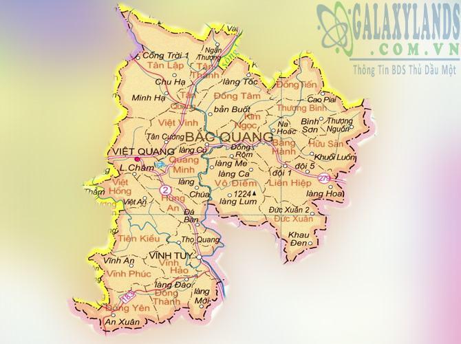 Bản đồ huyện Bắc Quang tỉnh Hà Giang