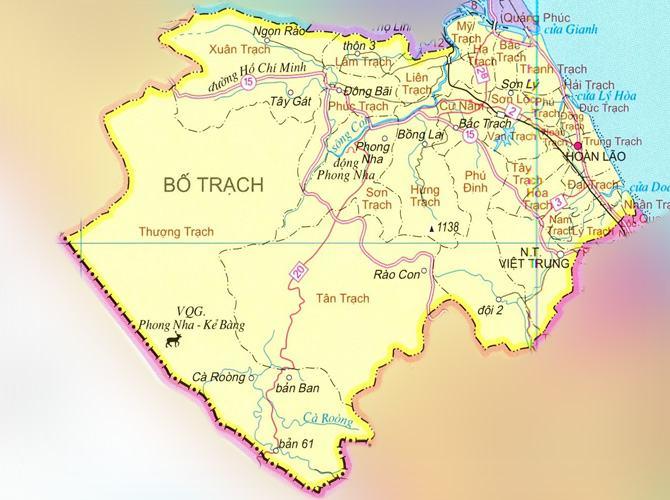 Bản đồ huyện Bố Trạch tỉnh Quảng Bình