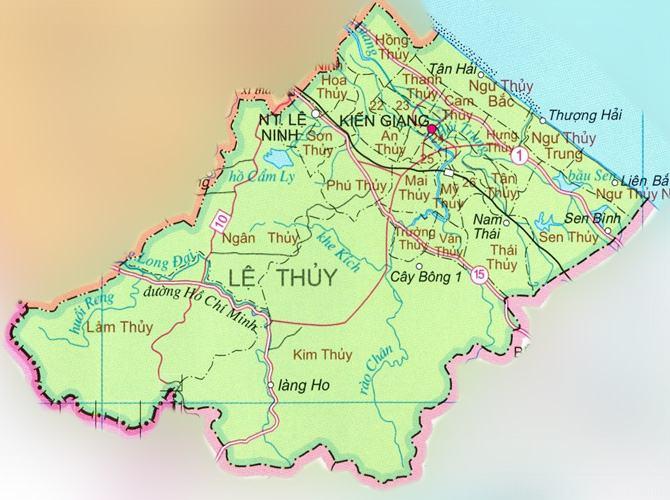 Bản đồ huyện Lệ Thủy tỉnh Quảng Bình