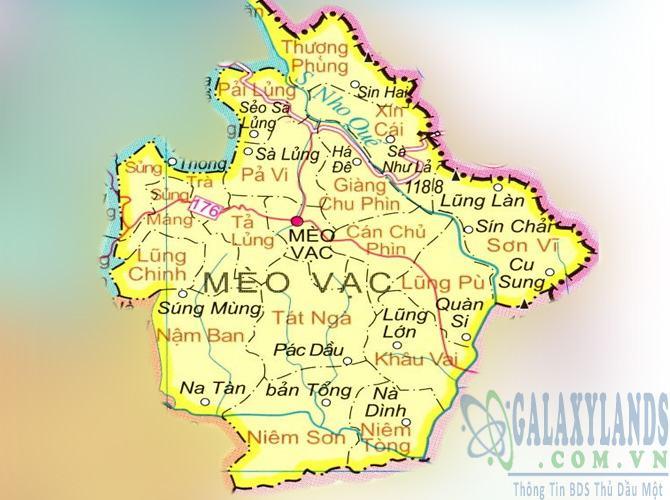 Bản đồ huyện Mèo Vạc tỉnh Hà Giang