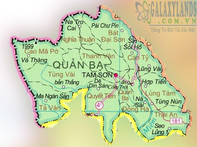 Bản đồ huyện Quản Bạ tỉnh Hà Giang