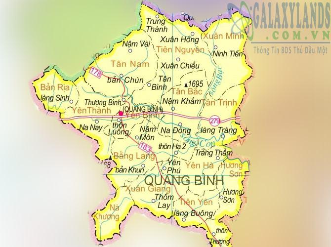 Bản đồ huyện Quang Bình tỉnh Hà Giang