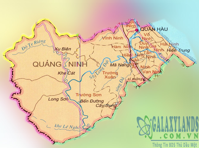 Bản đồ huyện Quảng Ninh tỉnh Quảng Bình