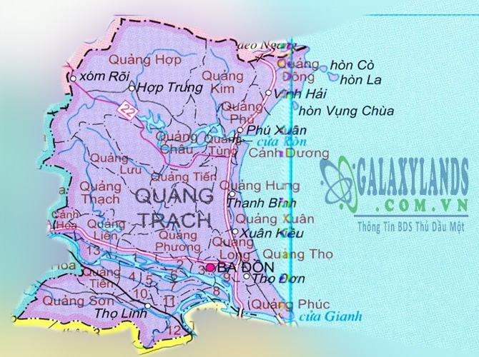 Bản đồ huyện Quảng Trạch tỉnh Quảng Bình