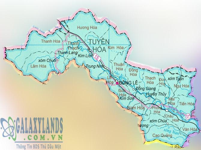 Bản đồ huyện Tuyên Hóa tỉnh Quảng Bình