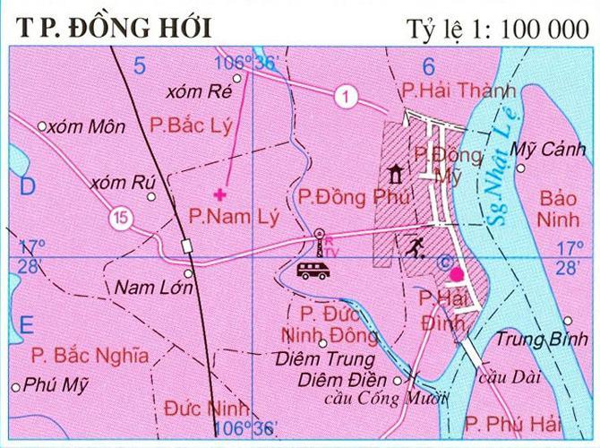 Bản đồ thành phố Đồng Hới Quảng Bình