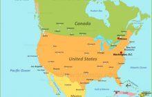 Bản đồ Châu Mỹ khổ lớn phóng to năm 2020