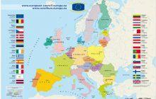 Bản đồ Châu Âu khổ lớn phóng to năm 2020