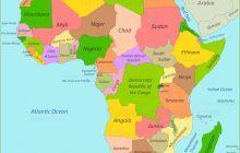 Bản đồ Châu Phi khổ lớn phóng to năm 2020