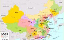 Bản đồ Trung Quốc khổ lớn phóng to năm 2020