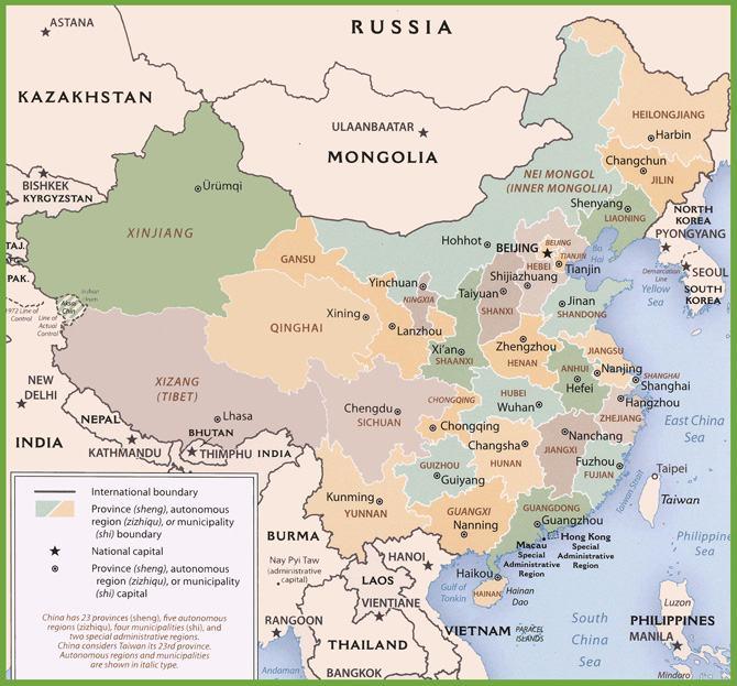 Bản đồ đất nước Trung Quốc